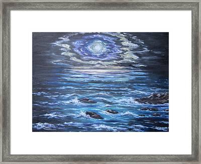 The Ocean Sings The Sky Listens 2 Framed Print by Cheryl Pettigrew