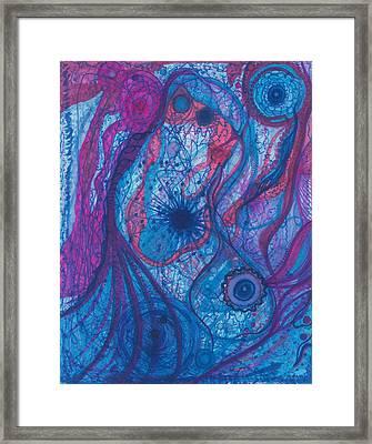 The Ocean's Blue Heart Framed Print