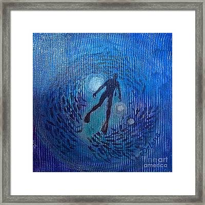 Framed Print featuring the painting The Ocean's Web by Delona Seserman