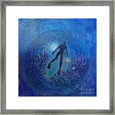 The Ocean's Web Framed Print by Delona Seserman