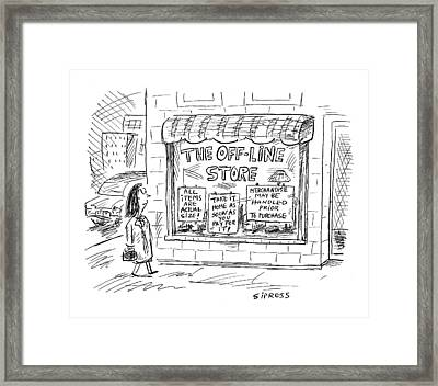 The Off-line Store Framed Print