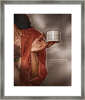 Framed Print featuring the photograph The Offer ... by Chuck Caramella