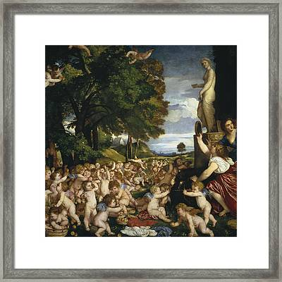 The Offering To Venus Framed Print