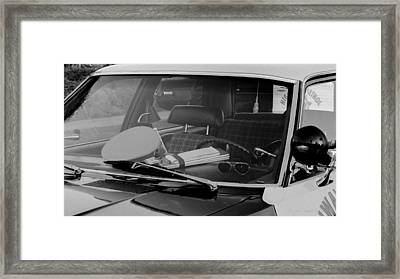 The Office On Wheels Framed Print