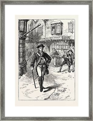 The Officer And The Barbers Boy Framed Print by English School