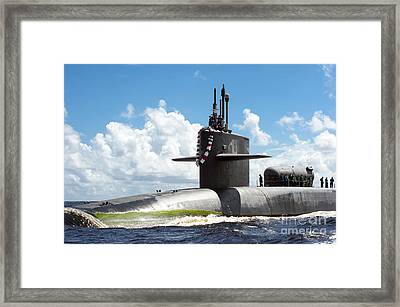 The Ohio-class Guided Missile Submarine Framed Print by Stocktrek Images