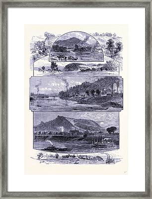 The Ohio River United States Of America Framed Print by American School