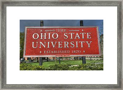 The Ohio State University Framed Print by David Bearden