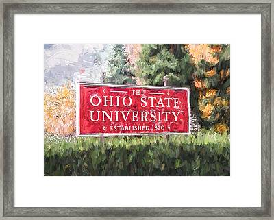 The Ohio State University Framed Print