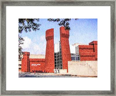 Framed Print featuring the painting The Ohio State University Wexner Center by Ike Krieger