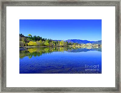 The Okanagan Blues Framed Print by Tara Turner