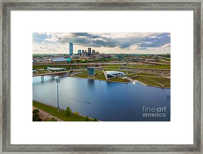 The Oklahoma River Framed Print by Cooper Ross