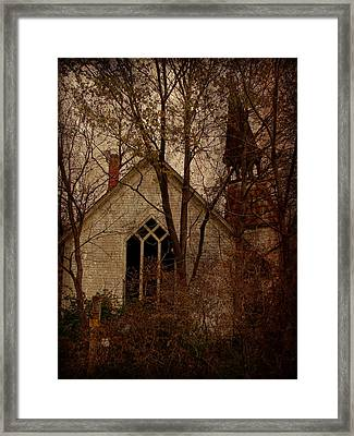 The Old Abandoned Church Framed Print by Cassie Peters