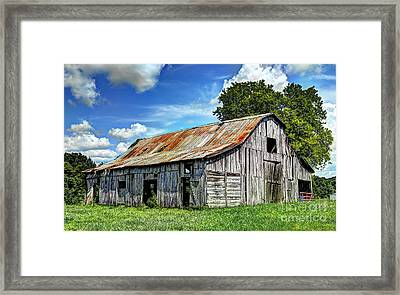 The Old Adkisson Barn Framed Print