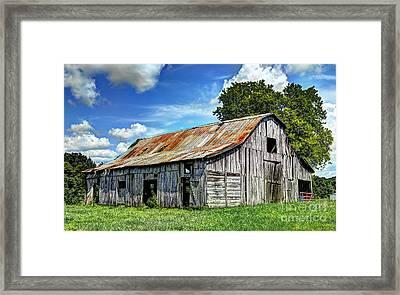 The Old Adkisson Barn Framed Print by Paul Mashburn