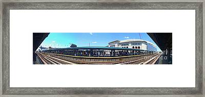 The Old And New Yankee Stadiums Panorama Framed Print