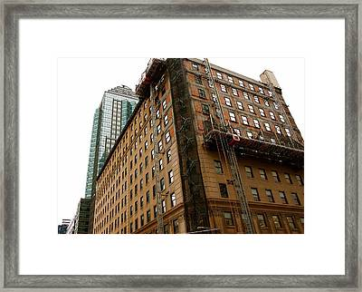 The Old And The New Building Framed Print by Jocelyne Choquette