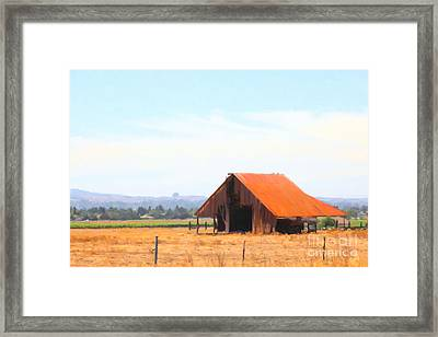 The Old Barn 5d24404 Framed Print by Wingsdomain Art and Photography