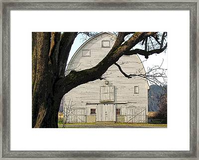 Framed Print featuring the photograph The Old Barn by I'ina Van Lawick