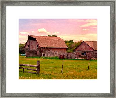 The Old Barn Framed Print by Michael Pickett
