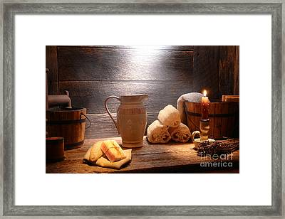 The Old Bathroom Framed Print