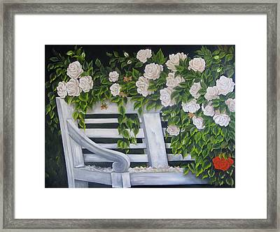 The Old Bench Framed Print by Katia Aho