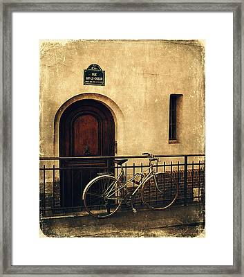 The Old Bicycle  Framed Print by Maria Angelica Maira