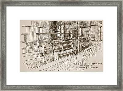 The Old Birmingham Meeting House, 1893 Framed Print