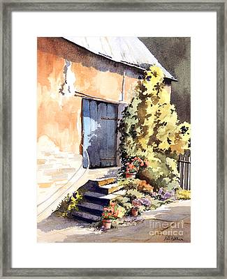 The Old Blue Door Framed Print by Bill Holkham
