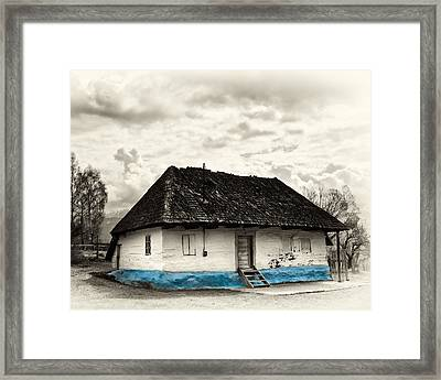 The  Old Blue House -1342  Framed Print by Dorin Stef