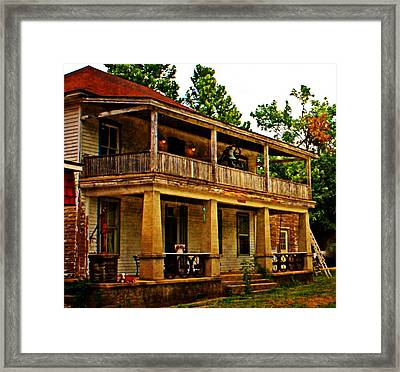 The Old Boarding House Framed Print by Marty Koch
