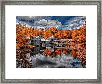 The Old Boat House Framed Print by Bob Orsillo
