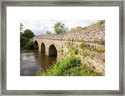 The Old Bridge Across The River Avon Framed Print by Ashley Cooper