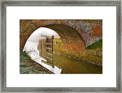 Framed Print featuring the photograph The Old Bridge And Lock Gates by Trevor Chriss