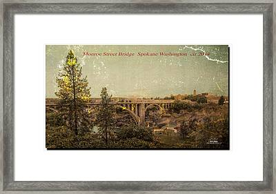 The Old Bridge Framed Print by Dan Quam