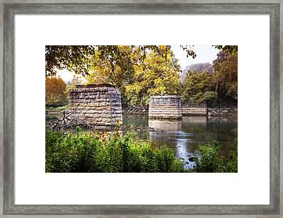 The Old Bridge Framed Print by Debra and Dave Vanderlaan