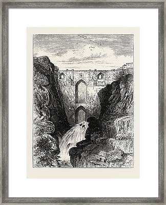 The Old Bridge Of Ronda Headquarters Of The Andalusian Framed Print