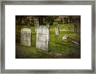 The Old Burial Ground Framed Print by Joan Carroll