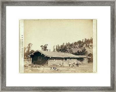 The Old Cabin Home Framed Print by Litz Collection