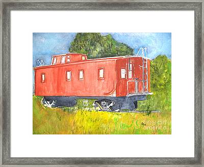 The Old Caboose Framed Print by Sandy McIntire