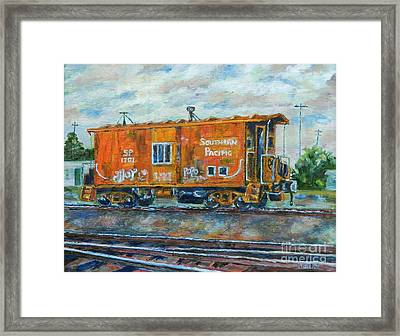 The Old Caboose Framed Print
