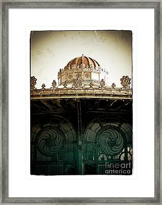 The Old Carousel House Framed Print