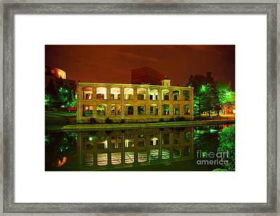 The Old Carriage House Building In Downtown Greenville Sc Framed Print