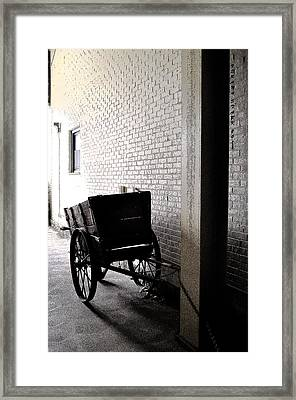 Framed Print featuring the photograph The Old Cart From The Series View Of An Old Railroad by Verana Stark