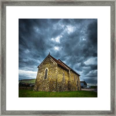 The Old Church. Framed Print