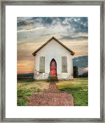 The Old Church Framed Print by Lori Deiter