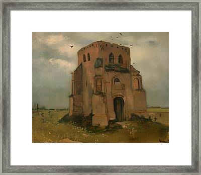 The Old Church Tower At Neunen Framed Print by Mountain Dreams