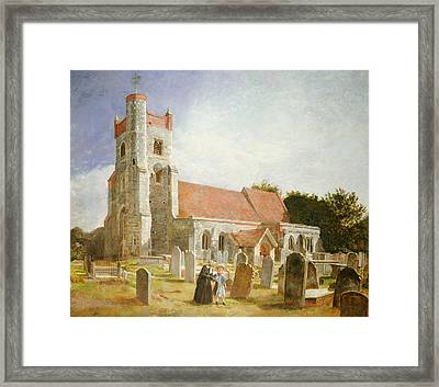 The Old Church Framed Print by William Holman Hunt