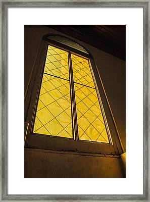 Framed Print featuring the photograph The Old Church Window  by Naomi Burgess