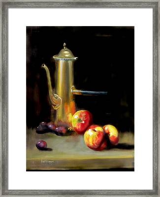 Framed Print featuring the painting The Old Coffee Pot by Barry Williamson